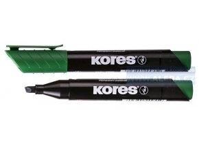 Popisovač permanentní Kores K-marker 3-5mm zelený