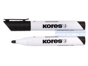 Popisovač bílá tabule Kores K-marker 3mm černý