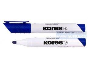 Popisovač bílá tabule Kores K-marker 3mm modrý