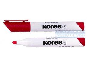 Popisovač bílá tabule Kores K-marker 3mm červený