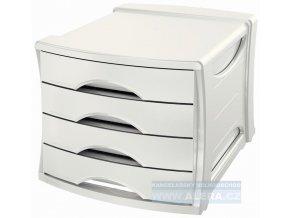 Zboží na objednávku - Zásuvkový box Esselte Europost Vivida bílá 4 zásuvky