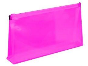 Zipová obálka DL 5ks průhledná 150mic. hřbet 2cm růžová