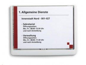 Zboží na objednávku - Informační štítek Click Sign Durable 4866 210x148.5mm bílá