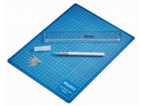 Zboží na objednávku - Řezací sada Dahle 10694 - podložka A4, skalpel, náhr. čepele, ochranný kryt, pravítko