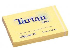 Lepicí bloček 3M Tartan 05176 51x76mm 100 lístků žlutá