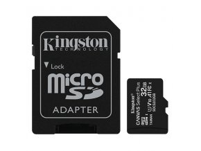 Kingston paměťová karta Canvas Select Plus, 32GB, micro SDHC, SDCS2/32GB, UHS-I U1 (Class 10), s adaptérem, A1