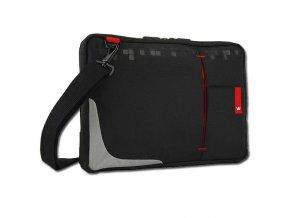 """Taška na tablet 10,2"""", černá s červenými prvky z nylonu, NT008, Crown"""