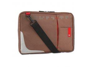"""Taška na tablet 10,2"""", hnědá z nylonu, NT008, Crown"""