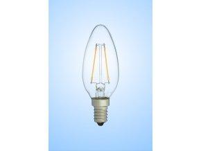 Tes-lamp LED žárovka 2 W E14 2700 K svíčka