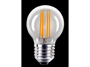 LED žárovka 4W E27 180-265V P45 čirá