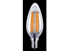 LED žárovka 4W E14 180-265V B35 čirá