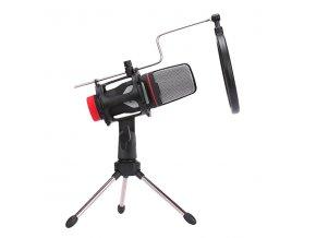 Marvo, streamovací mikrofon MIC-02, bez regulace hlasitosti, černý, s tripodem