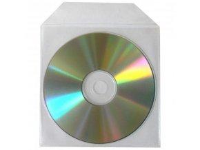 Obálka na 1 ks CD, polypropylen, průsvitná, s nelepicí klopou, 100-pack, cena za 1 ks
