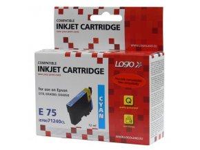 Logo kompatibilní ink s C13T07124011, cyan, 12ml, pro Epson D78, DX4000, DX4050, DX5000, DX5050, DX6000, DX605