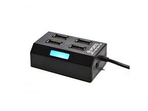 USB (2.0) hub 4-port, 308, černá