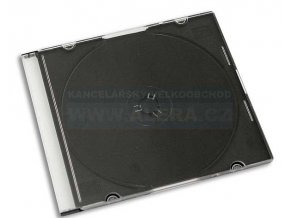 Box na CD/1ks slim-tenký černý [ POUZE PO 10-ti KS ]