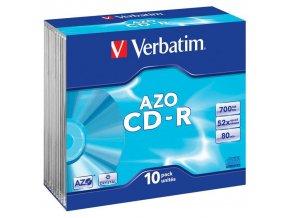 Disk CD-R 700MB/80min Verbatim ExtraProtection slim / 1ks