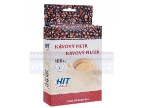 Zboží na objednávku - Kávový filtr č.2 100ks v balení