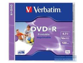 Disk DVD+R 4.7GB Verbatim DataLifePlus 16x Printable Jewel  1ks