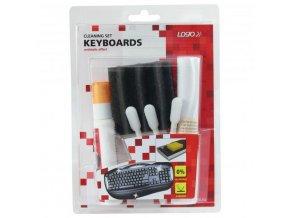 Čistič LOGO sada na klávesnice sprej 50ml + 5 ubrousků + 3 aplikátory + houbička