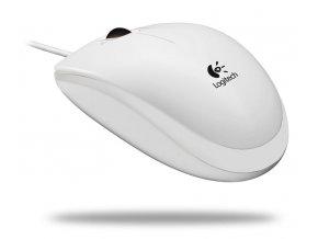 Myš Logitech Optical Mouse B100 White USB bílá