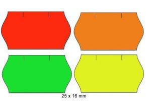Cenové etikety 25x16mm 1125ks Contact signální oblé okraje