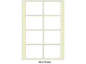 VÝPRODEJ -Etikety tabelační  90x72 dvouřadé 4000ks
