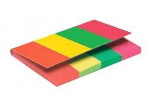 Lepicí bloček Kores záložka 20x50mm  4x50 lístků neon 4barvy