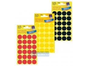 Zboží na objednávku - Etikety Avery Zweckform barevné kolečko 18mm 96 ks