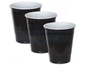 Kelímek-plast 0,2/100ks hnědý do automatu + na horké nápoje - vodorovné žebrování