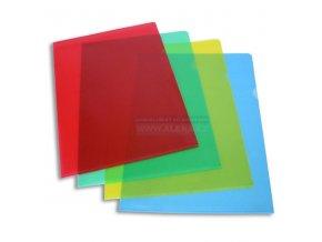 Obal A4 L 110mic, 1ks barevný [ POUZE PO 100 ks ]