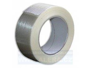 Páska lepicí 50x50m filamentní PP 312 průhledná armovaná