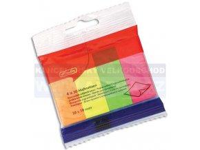 Lepicí bloček Herlitz 10525566 záložka 20x50mm/4ks barevný mix