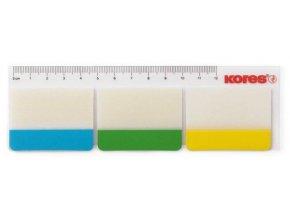 Lepicí bloček Kores záložka 50x37mm  3 barvy x 10 lístků  blistr