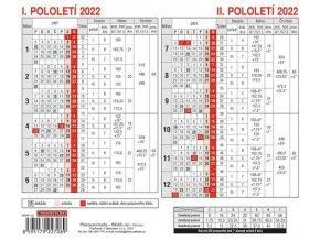 Kalendář 22S/BKA0 Plánovací karta  180x150