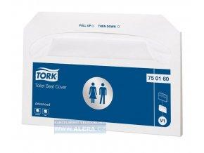 Zboží na objednávku - TORK 750160  Podložka na WC prkénko papírová, balení 250ks