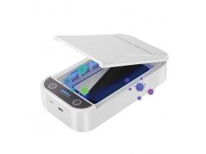 """UV sterilizátor Powerton, pro mobilní telefony a šperky, až 6,5"""", 10 W, bílá"""