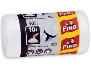 Zboží na objednávku - Sáček do koše - 10L - 36x44 - 7mic. /50ks s uchy bílá FINO