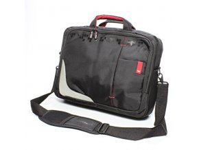 "Taška na notebook 15,6"", černá s červenými prvky z nylonu, NT007 typ Crown"