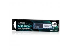 Interní disk SSD Apacer M.2 PCIe, 240GB, AS2280P4, AP240GAS2280P4-1 1100 MB/s,1800 MB/s