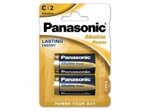 Baterie alkalická, malý monočlánek, C, 1.5V, Panasonic, blistr, 2-pack, Alkaline Power
