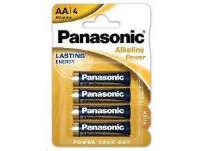 Baterie alkalická, AA, 1.5V, Panasonic, blistr, 4-pack, Alkaline power