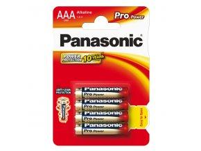 Baterie alkalická, AAA, 1.5V, Panasonic, blistr, 4-pack, 265899, Pro Power