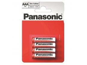 Baterie zinkouhlíková, AAA, 1.5V, Panasonic, blistr, 4-pack