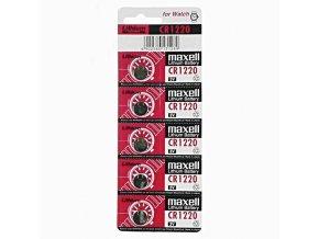 Baterie lithiová, konflíková, CR1220, 3V, Maxell, blistr, 5-pack