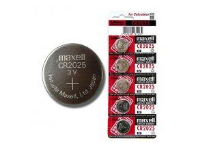 Baterie lithiová, konflíková, CR2025, 3V, Maxell, blistr, 5-pack
