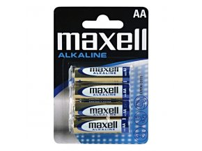 Baterie alkalická, AA, 1.5V, Maxell, blistr, 4-pack