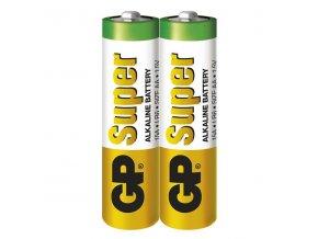 Baterie alkalická, AA, 1.5V, GP, folie, 2-pack, SUPER