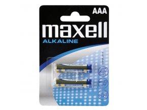 Baterie alkalická, LR-3, AAA, 1.5V, Maxell, blistr, 2-pack