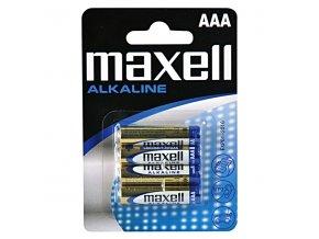 Baterie alkalická, LR-3, AAA, 1.5V, Maxell, blistr, 4-pack